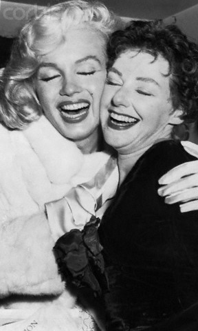 Joan Copland and Marilyn Monroe